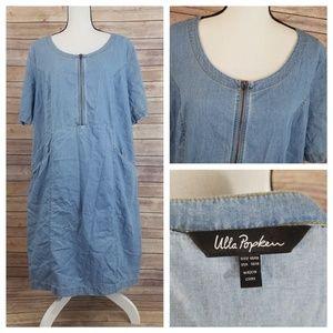 Ulla Popken 16/18 16 18 Jean Denim Shirt Dress